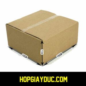 Hộp Carton COD B45 – 15x15x7 Cm