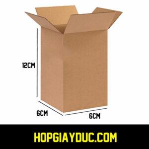 Hộp Carton COD B18 – 6x6x12 Cm