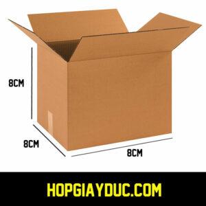 Hộp Carton B01 – 8x8x8 Cm