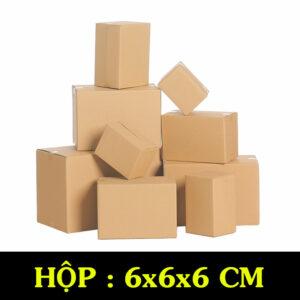 Hộp Carton COD B25 – 6x6x6x Cm