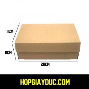 Hộp giày carton 28x11x8